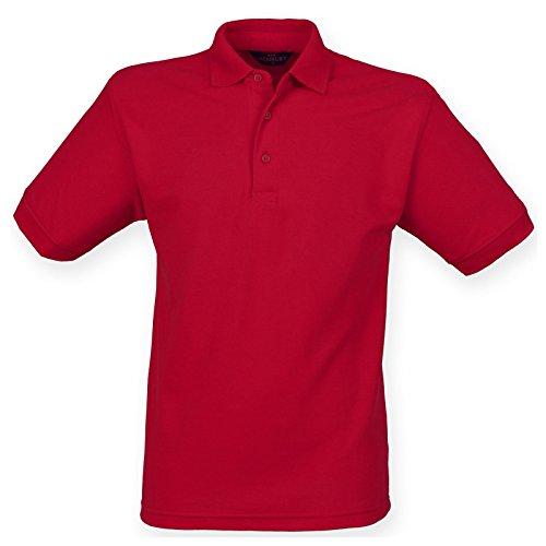 Henbury Herren Modern Poloshirt Vintage Red