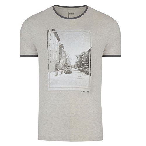 Dare 2b Mens Out of Town Cotton Quick Dry Relaxed Fit Graphic T-Shirt White