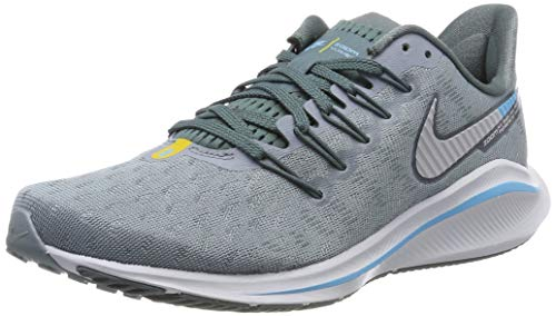 online store fe19a 3ec51 Nike Men s Air Zoom Vomero 14 Running Shoes Aviator Grey Pure Platinum Blue  Fury