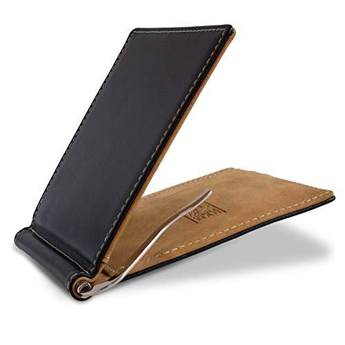 be GENTLEMAN be GENTLEMAN ?Welford? Geldbeutel mit Geldklammer aus Echt-Leder Herren - 6 Kartenfächer - RFID Blocker - Männer Geldbörse Klein - Kartenetui inkl. Geschenkbox (Echtleder)