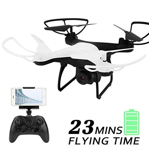 Drohnen Für Kinder, Drohne Mit 720P HD-Kamera Live-Video 23 Minuten Lange Flugzeit WiFi FPV RC Quadcopter Flugbahn Flug Mit Einem Schlüssel,Weiß