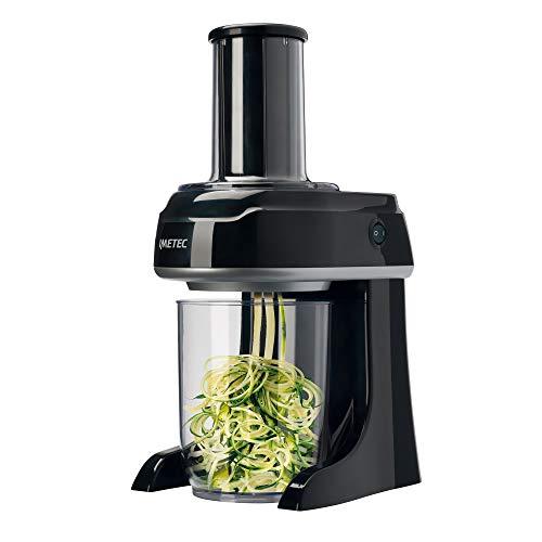 Imetec sp 100 spiralizer elettrico, tagliaverdure a spirale, affetta verdure in 3 forme spaghetti, tagliatelle, pappardelle, lame in acciaio inox, contenitore bpa free 500 ml, sistema di sicurezza