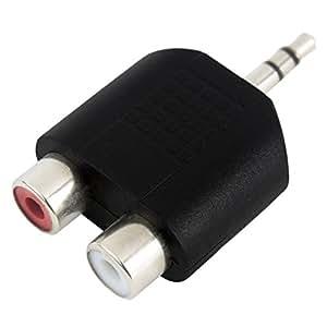 AKORD Câble prise stéréo 3,5mm mâle à 2RCA Audio Jack femelle Y Splitter adaptateur