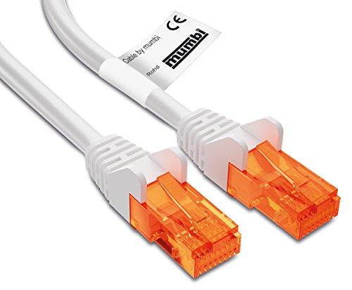 mumbi 5m CAT.5e Ethernet Lan Netzwerkkabel - CAT.5e (RJ-45) 5 Meter Kabel in weiss
