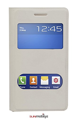 Sun Mobisys™; Samsung Galaxy Star Pro Flip Cover; Flip Cover for Samsung Galaxy Star Pro S7262 White  available at amazon for Rs.175