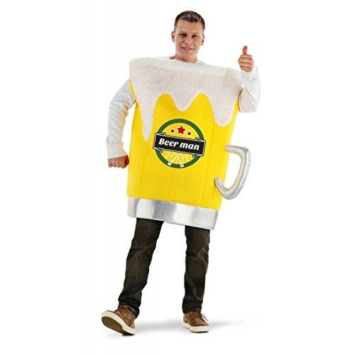 Folat 21967 Bierglas Schaum Anzug, gelb/weiß, One - Bier Motto Kostüm