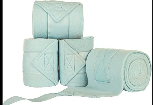 Equestrian Polar Fleece Bandages/Polo Wrap - for Mini-Shetty (EQIBND08_Baby_Blue_6400)