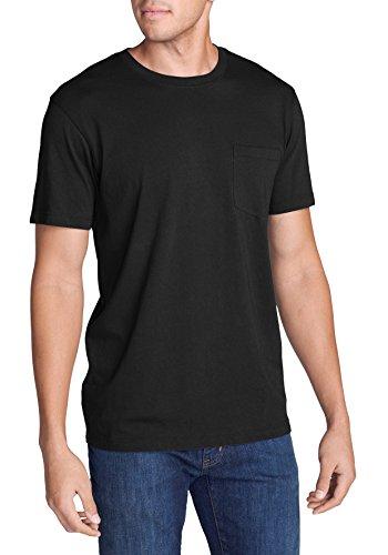 Eddie Bauer Herren Legend Wash Kurzarm-Shirt mit Tasche Schwarz