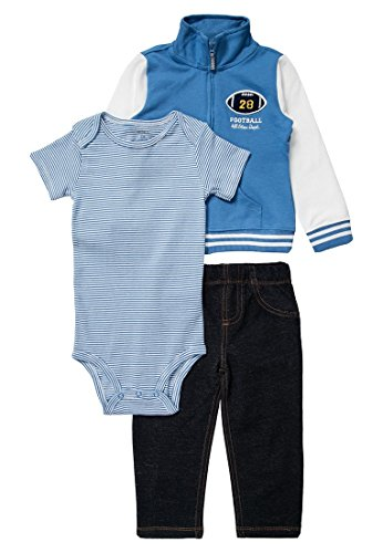 CARTER'S SET - Baby Stoffhose - blue athletic/denim Gr. 72-78 cn