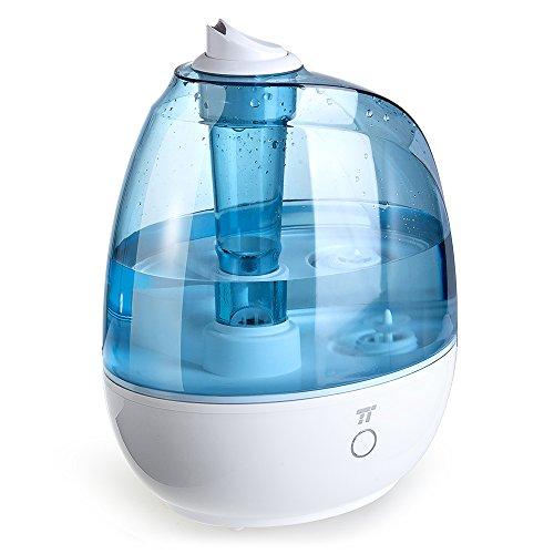 Humidificador Bebé 2L, TaoTronics Humidificador de Aire Silencioso Ultrasónico para Habitación de Bebé, 3 Modos de Vapor, Mode de Sueño, Boquilla 360º girable, Vapor Frío, Libre de BPA, Cool Mist