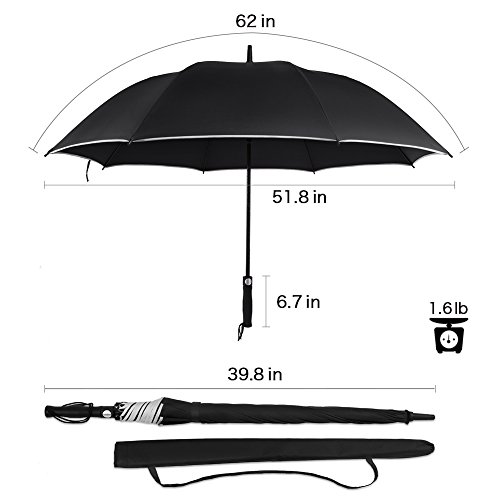 Zoom IMG-2 antivento golf ombrello oversize 62
