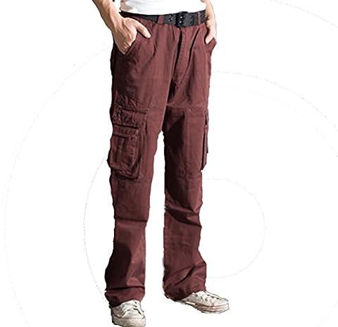 Short en coton sergé Vintage Décontractée Cargo Pantalon pour homme