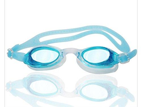 PanpA Einfacher Griff Kinder Schwimmbrille Anti-Fog Wasser UV-Schutz beschichtete Linse kein Leck (grün)