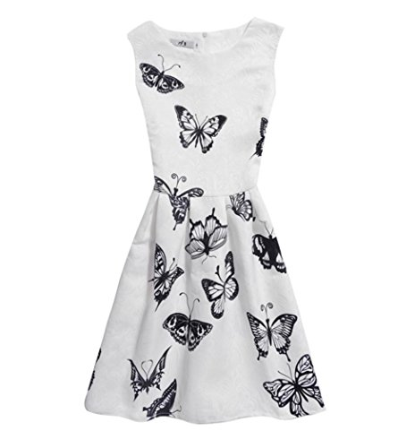 Girl's Dress,OSYARD Summer Dresses Sleeveless Printed Princess Dress Children Kids Outfits Clothes