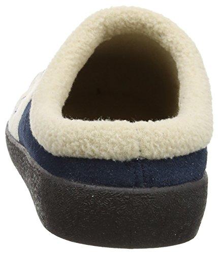 Coolers Chaussons en microdaim avec doublure thermique chaude 2 tons Tailles : 7 (40) - 8 (41) - 9 (42) - 10 (43) - 11 (44) Bleu - Bleu marine