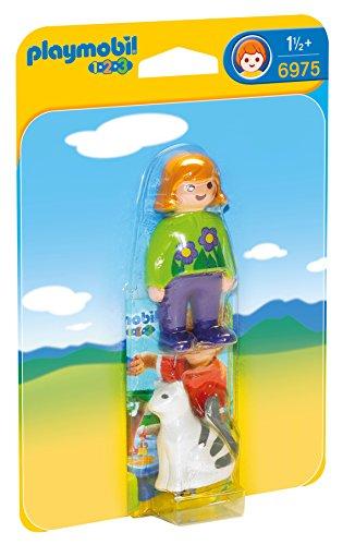 Playmobil 6975 - Donna con Gattino, 2 Pezzi