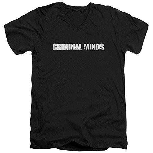 Criminal Minds TV Show CBS Logo Adult V-Neck T-Shirt Tee