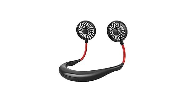 EliteMill Ventilateur portatif portatif Le Bureau Le Camping et Les Voyages Mini USB Tour de Cou Double Portable pour Sports en Plein air pour la Maison