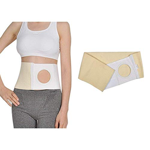 Z-ZH Stomagürtel für Kolostomiebeutel, Stomagürtel zur Unterstützung von Hernien, Bauchbindemittel, Verhindert parastomale Hernien -