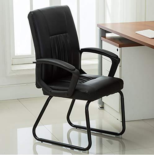 Chaises Surface assise rembourrée en PU tendance Salle de réunion arrière respirante Chaise de réception Chaise d'ordinateur de bureau (4 couleurs en option) Taille: 51 * 51 * 110CM (Couleur : A)