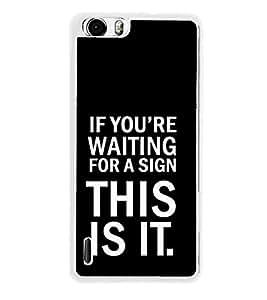 PrintVisa Attitude Quote High Gloss Designer Back Case Cover for Huawei Honor 6