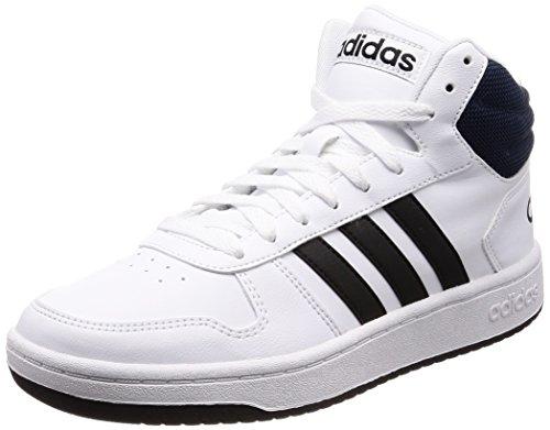 adidas Herren Hoops 2.0 Mid Fitnessschuhe, Weiß (Ftwbla/Negbas/Maruni 000), 40 2/3 EU