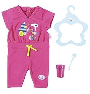 Zapf Baby Born Jumpsuit Set Juego de ropita para muñeca - Accesorios para muñecas (Juego de ropita para muñeca, 3 año(s), Azul, Rosa, 43 cm, Chica, 4 Pieza(s))