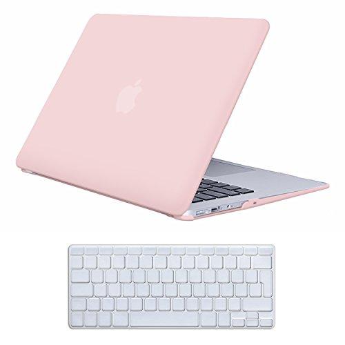 Case MacBook Air 13 Hülle Baby Pink ,iCasso Reines Farbe design Ultra Slim Dünn Kratzfeste Matt Rutschfest Hartschale Kunststoff Schutzhülle Snap Case für MacBook Air 13 Zoll (Modell: A1369 / A1466) (Pink Hard Gummi)