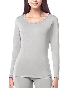 LAPASA Ropa Térmica para Mujer Camiseta/Pantalón -Brushed Back Fabric Technique- L17