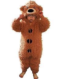 Mono diseño animal con suave forro polar para niños, mono, reno, gato, perro, oveja, gorila, edad 2-13años