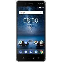 Nokia 8 Smartphone débloqué LTE (Ecran : 5,3 pouces - 64 Go - Nano-SIM - Android) Gris