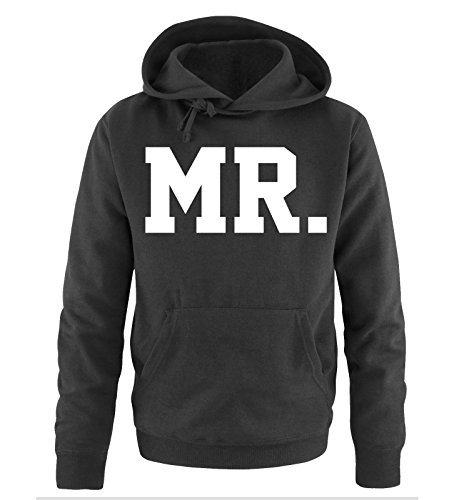 *Comedy Shirts – MR. – SUPERSTAR STYLE – Herren Hoodie – Schwarz / Weiss Gr. XL*