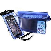 Funda impermeable IPX8 y carcasa impermeable de Blusmart (2 pieza) para iPhone 6 6S Plus 7 7Plus 5 5S Huawei P8 P9 Samsung Galaxy S6 S7