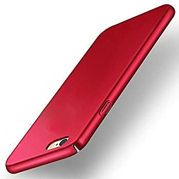 """Infiniti Ipaky 4 cut All Sides Protection """"360 Degree"""" Sleek Matte Hard Case Back Cover For Oppo F3 plus Red"""