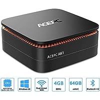 "ACEPC AK1 Mini PC,Windows 10(64 bits) Procesador Intel Celeron Apollo Lake J3455(hasta 2,3GHz)Computadora de escritorio[4GB/64GB/Soporte 2.5""SSD/mSATA SSD/2.4G+5G Dual WiFi/Gigabit Ethernet/BT 4.2/4K]"
