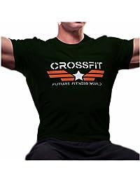 CR0006U Maglietta uomo Crossfit Captain America fitness palestra allenamento idea regalo by Ideamaglietta