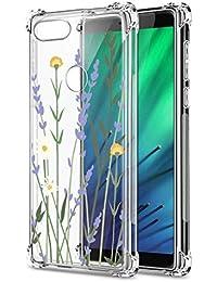 Oihxse Cristal Compatible con Xiaomi Redmi 6 Funda Transparente TPU Silicona Estuche Airbag Esquinas Anti-Choque Anti Rasguños Diseño Rosa Flower Caso (Flores A8)