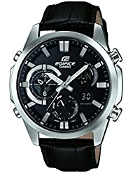 Casio Herren-Armbanduhr Edifice Analog - Digital Quarz Leder ERA-500L-1AER