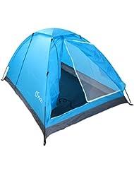 Yodo - Tienda de campaña tipo cúpula para 2 personas, ligera y con bolsa de transporte, azul