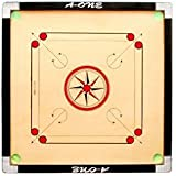 Aone Full Size Gol Pocket Carrom Board With 24 Coins Striker & 2 Carrom Powder (Large)