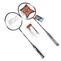 مجموعة مضرب كرة ريشة جوركس Joerex Badminton Racket (2 Racket 3 Shuttlecock)