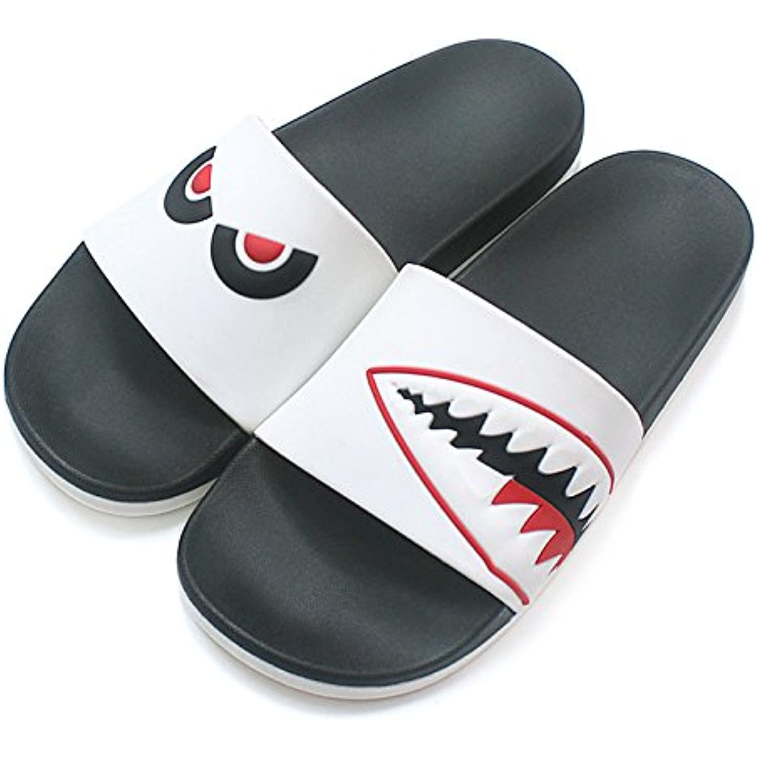 fankou The Tide Personality Male Tide Slippers Male Personality Students Inside and Outside The Home Bath Anti-Slip Bath are Cool... - B07C5CY39X - c854c8