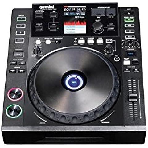 Gemini CDJ-700 - Controladores DJ (2.0, USB B, Corriente alterna, 100 - 240V, 33.7 cm, 30.5 cm) Negro