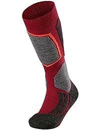 FALKE calcetín de esquí infantil SK 2 Kids, otoño/invierno, infantil, color Rojo - rojo, tamaño 31-34