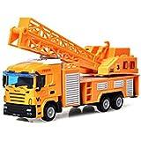 لعبة شاحنة للاطفال، شاحنة رافعة، سيارة العاب، الة بناء تعمل بالاحتكاك