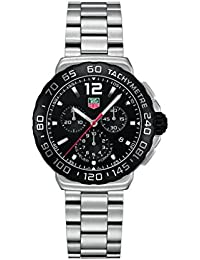 TAG Heuer Men Stopwatch Watch with Black Dial Analog - Digital
