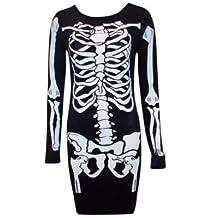 Oops Outlet–Jersey para mujer con esqueleto haloween vestido Disfraz