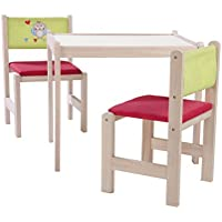 roba-kids - Set de mesa, silla y banco de juego de madera natural, multicolor (Roba Baumann 50710V150)
