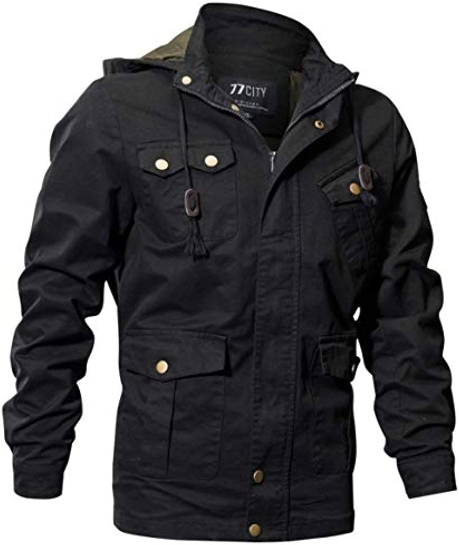 HX fashion Giacca in Felpa da Uomo in Cotone Taglie da Comode Multi Tasche  da Taglie c109a1f8b6d