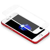 "iPhone 7 Plus 8 Plus Schutzfolie,Coolreall® Full Screen Curved Panzerglas für iPhone 7 Plus / iPhone 8 Plus5,5"",[9H Härtegrad,3D-Touch kompatibel](Weiß)"